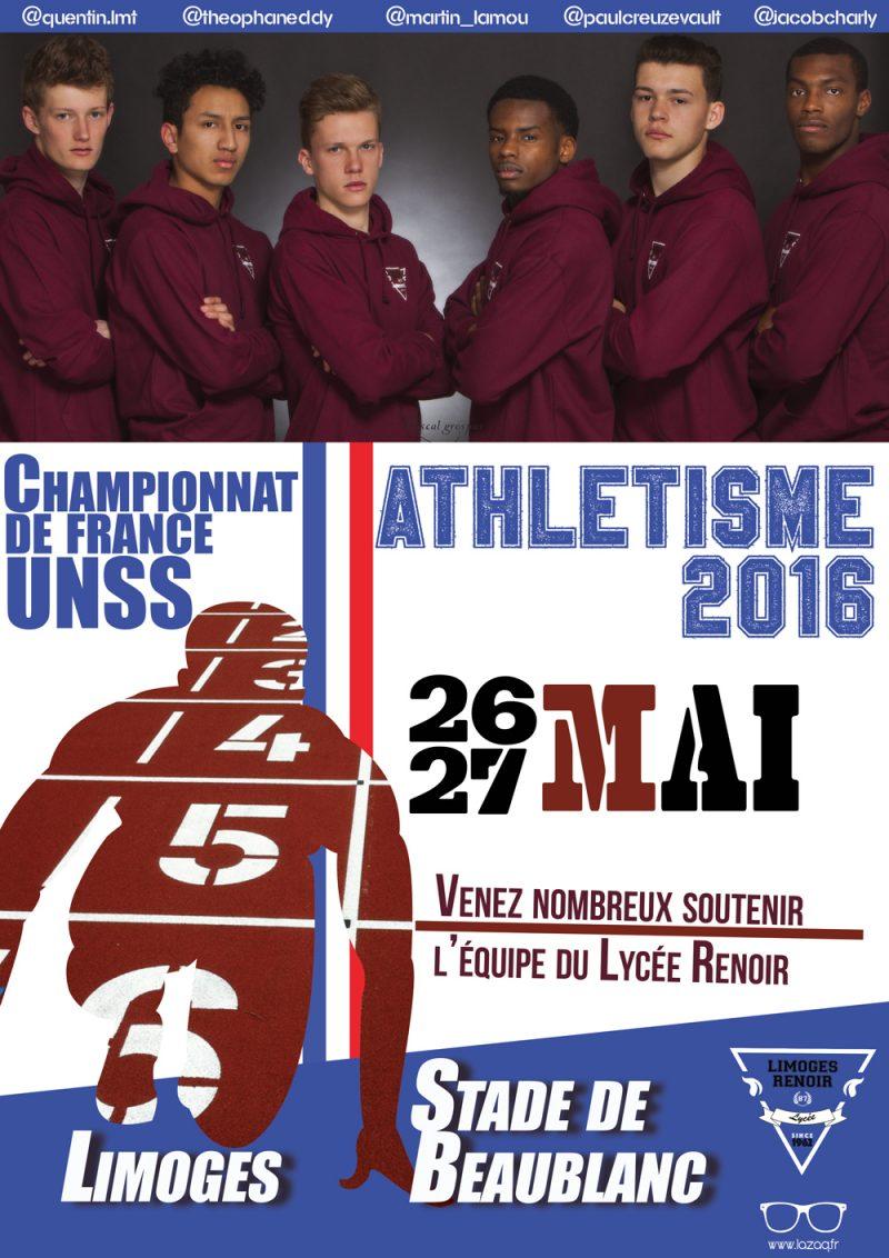 UNSS-affiche-championnat-de-France-Athlétisme-2016